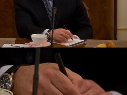 So Vladimir Putin was photographed taking notes while Obama was speaking…