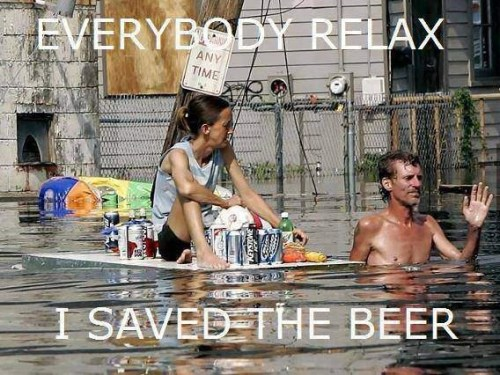 Relax, the beer is saved