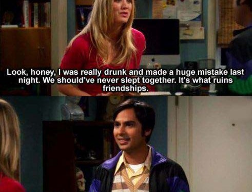 You can't ruin friendship with sex