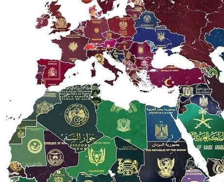 Passport covers by country