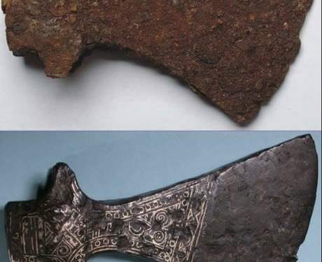 Restored 1000 year old Viking Axe