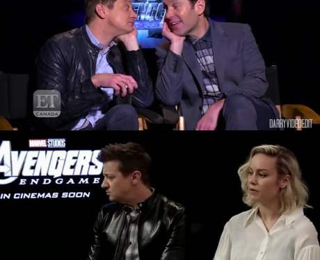 Jeremy Renner with Paul Rudd X Jeremy Renner with Brie Larson
