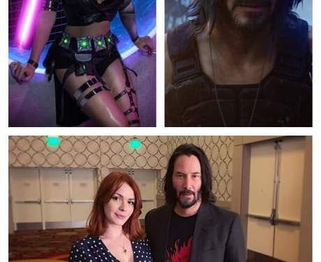 Now fight. (irina meier and keanu reeves)