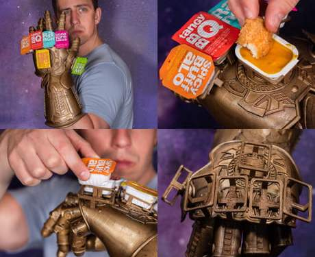 For fun I design fake products, behold The Infinity Saucelet, wield all of your favorite fast food sauces at once. Cover everything in sauce…whatever it takes.