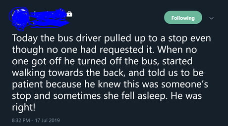 This Bus Driver Going above and beyond