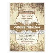 Fresh Rustic Wedding Shower Invitations 85 Ideas With