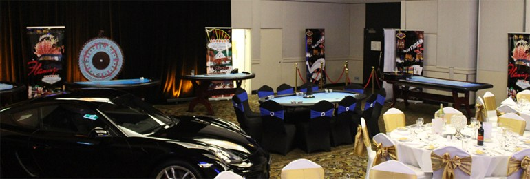 Casino Tables set up at Traders Hotel in Brisbane Casino Games on offer at Wild Diamonds Fun Casino