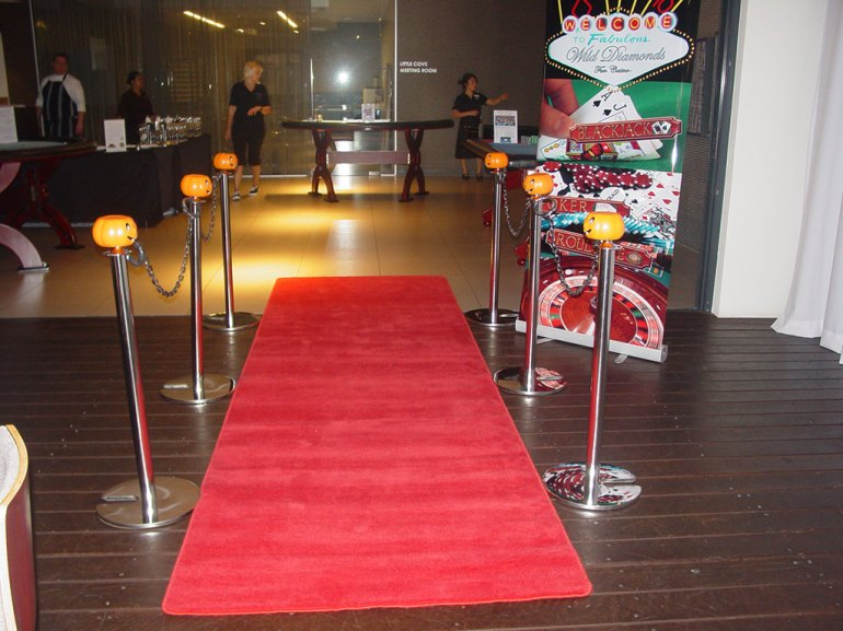 Blood Red Carpet for a Friday 13th party