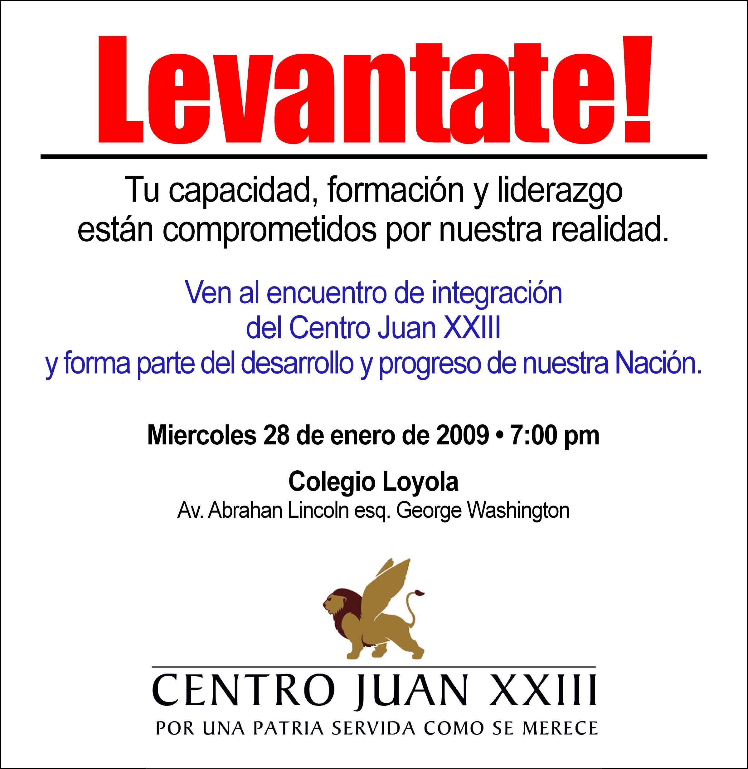 invitacion-juanxxiii_integracion-ene2009