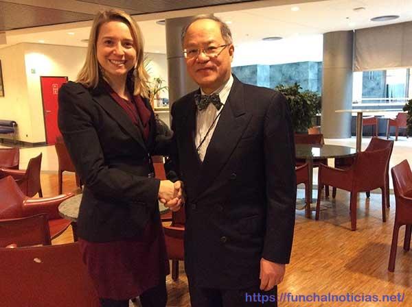 Eurodeputada recebeu embaixadores da Turquia e de Taiwan. Foto DR