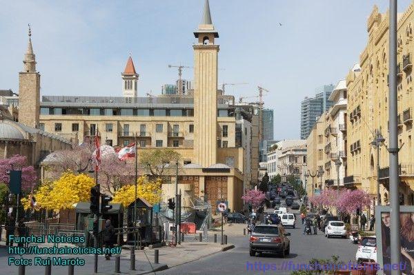 O moderno centro da cidade de Beirute
