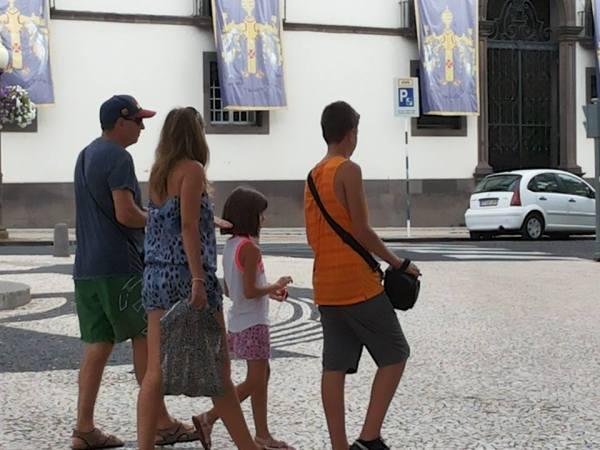 Turista familia