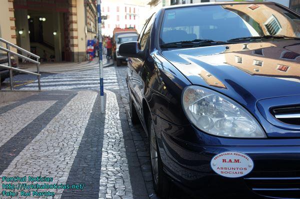 A presidente às vezes estaciona o carro neste espaço...