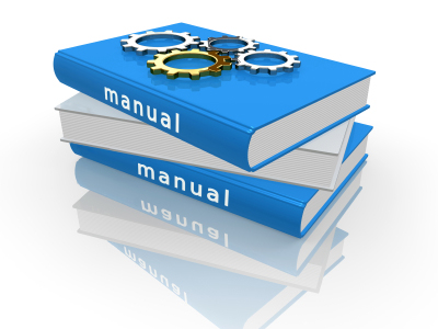 Rendered User Manual Concept with Gears