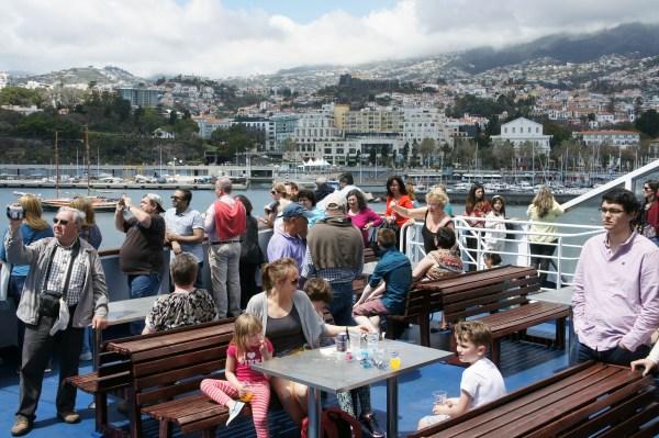 O mini cruzeiro de três horas foi divulgado junto dos turistas e da diáspora. (Foto Rui Marote)