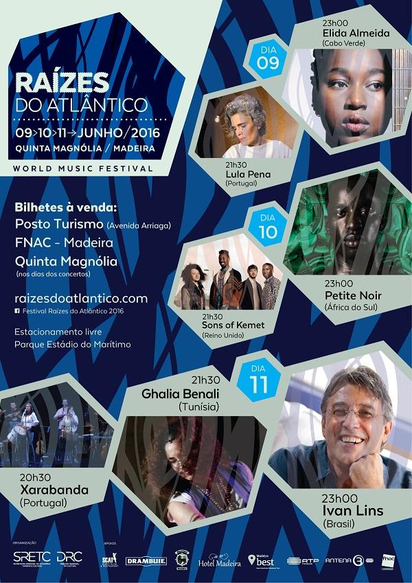 Cartaz Festival Raízes do Atlântico