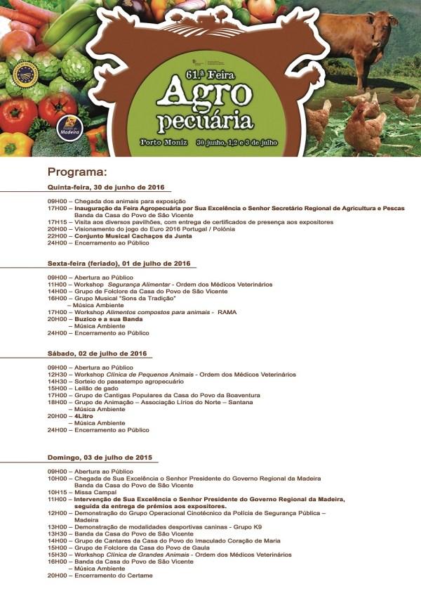 cartaz_Programa Feira Agro Pecuária Porto Moniz