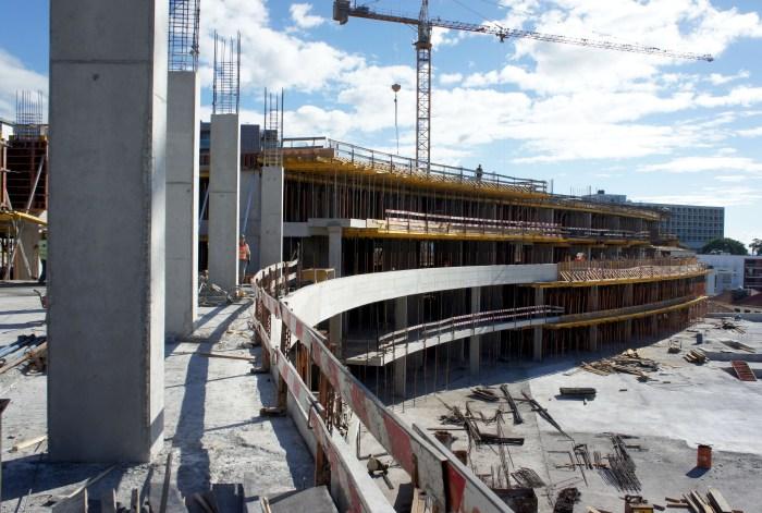 Construção do Bloco Nascente lado Sul. (Foto Rui Marote)