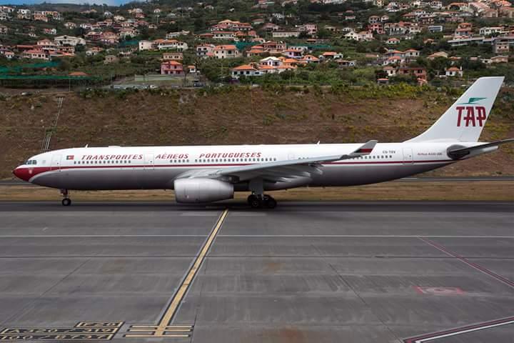 TAP-Avião Madeira TAP retro