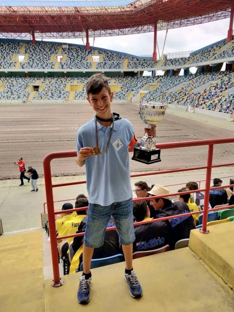 Guilherme Ferreira: bom aluno na escola e no futebol