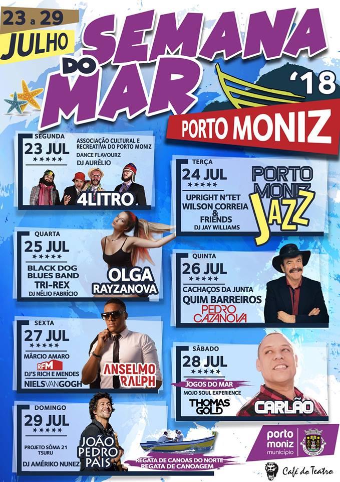 """Semana do Mar no Porto Moniz de 23 a 29 de julho com cartaz de """"encher o olho"""""""