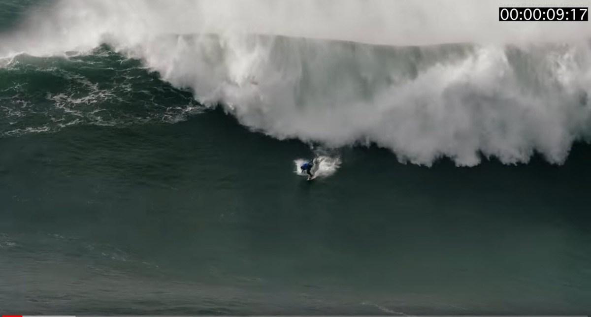 Imagens angustiantes do resgate do surfista brasileiro Thiago Jacaré na Nazaré [vídeo]