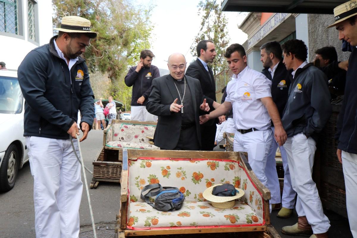 Veja as fotos da visita do novo bispo do Funchal ao Monte