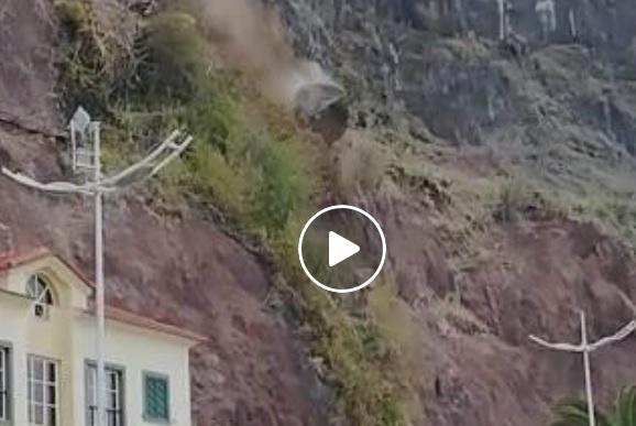 A queda (des)controlada de um pedregulho na Calheta