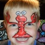 Lobster face paint 1