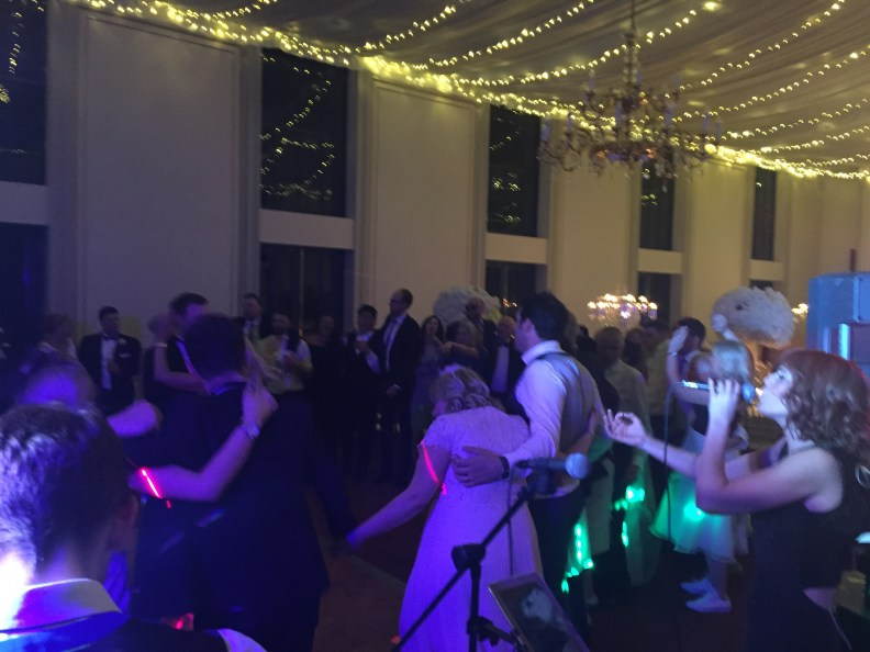 Natalie and James Wedding Rise Hall dancing