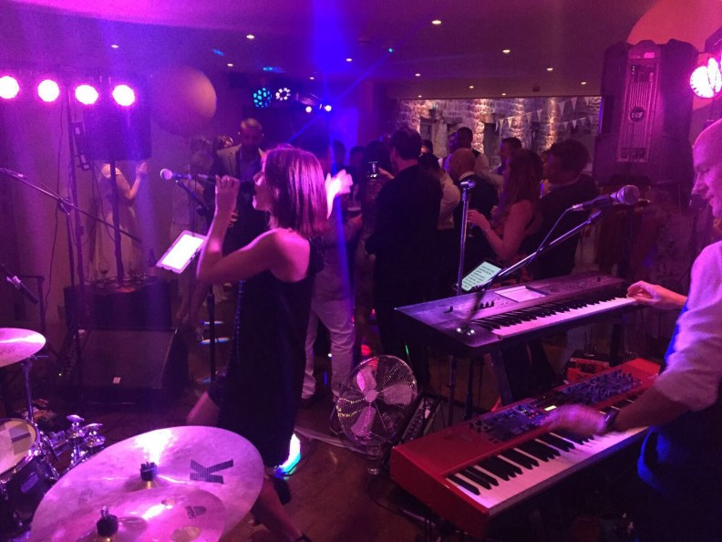 Dancing Wedding Guests Leeds Staffordshire the Barn Disco Live Music