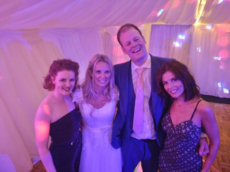 Gorgeous Bride and Groom Dancing Wedding Party Band