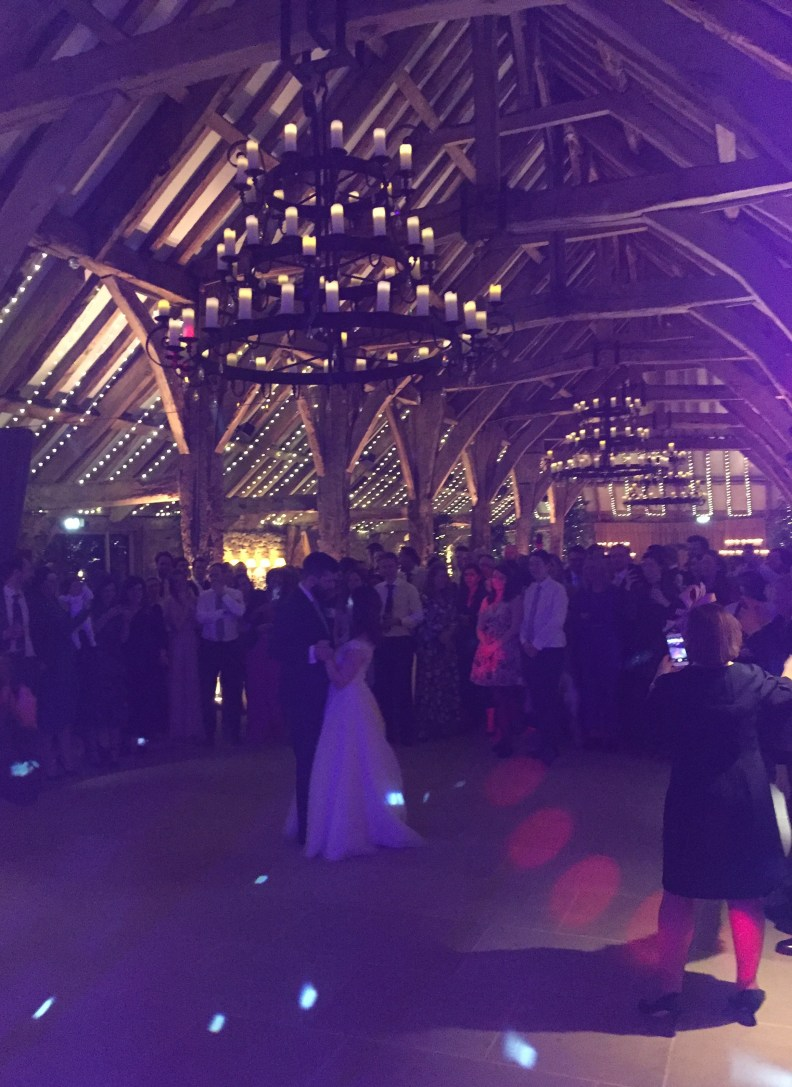 Wedding First Dance Tithe Barn Bolton Abbey