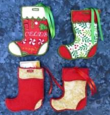 Christmas gift card stockings