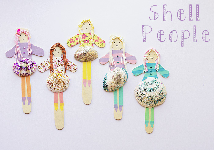 Shell Crafts Dollies Fun Crafts Kids