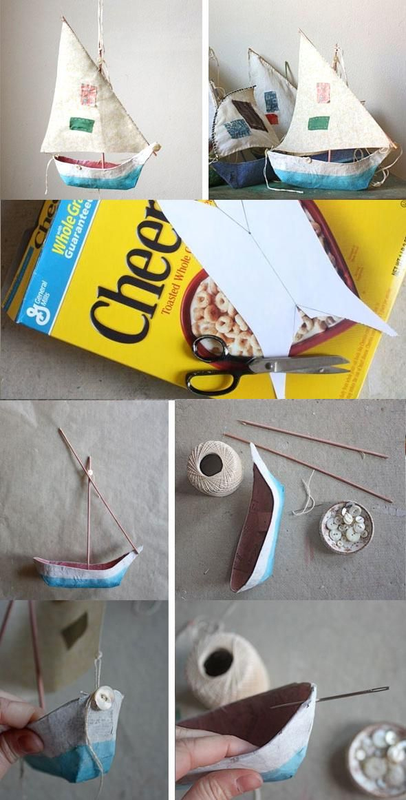 Cereal Box Boat Fun Crafts Kids