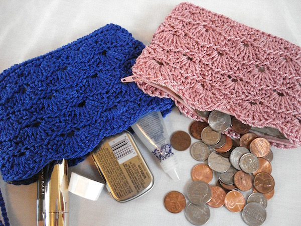 Rippled Shells Coin Purse Pattern