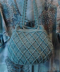 Raised Diamonds Cinched Tote