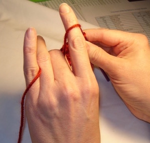 How I learned to hold the yarn