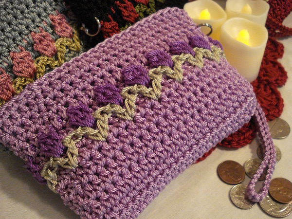 Purple Tulips Coin Purse