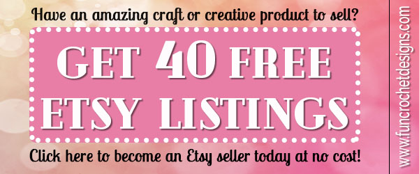 Get 40 Free Etsy listings and become an Etsy Seller today