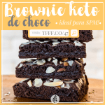 BROWNIE FIT: BROWNIE DE CHOCOLATE SALUDABLE | DIETA CETOGÉNICA