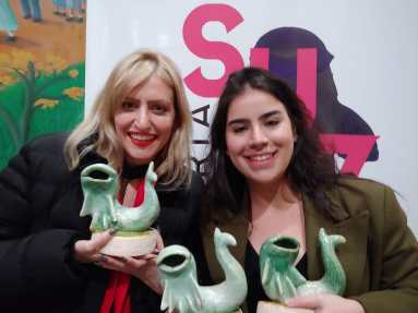 Marina Azze e Elisa Aleva no Festival Curta Suzano (foto divulgação)