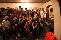 Alunos do Offcine durante a Ofcina de Produção Cinematográfica realizada no BenFazejo Hostel & Lounge 1