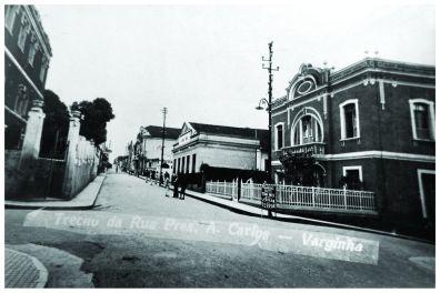 Rua Presidente Antônio Carlos esquina com Rua Deputado Ribeiro de Rezende – década de 1930.