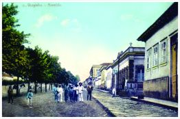 Avenida Rio Branco esquina com Rua São Paulo. Início do séc. XX.