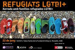 Refugiats és un cicle de tres col·loquis que organitza l'associació Encara en Acció en col·laboració amb ACATHI per fer conèixer la realitat de les persones refugiades LGBT.