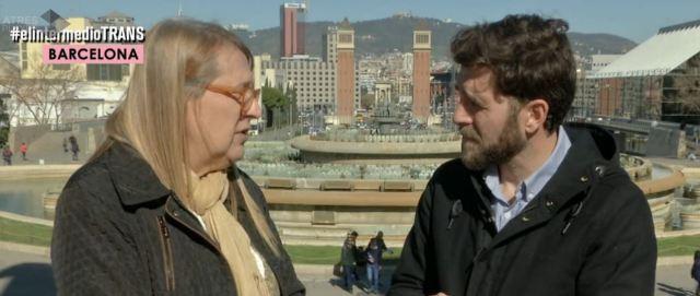 """Fina Campás entrevistada por el reportero Gonzo del programa """"El Intermedio"""""""
