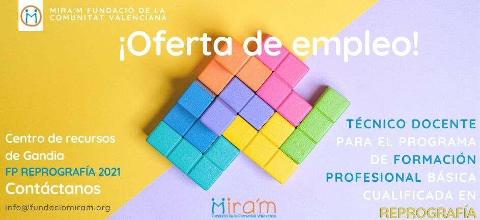 Oferta_Empleo_Docente_FP_Reprografía_Gandia
