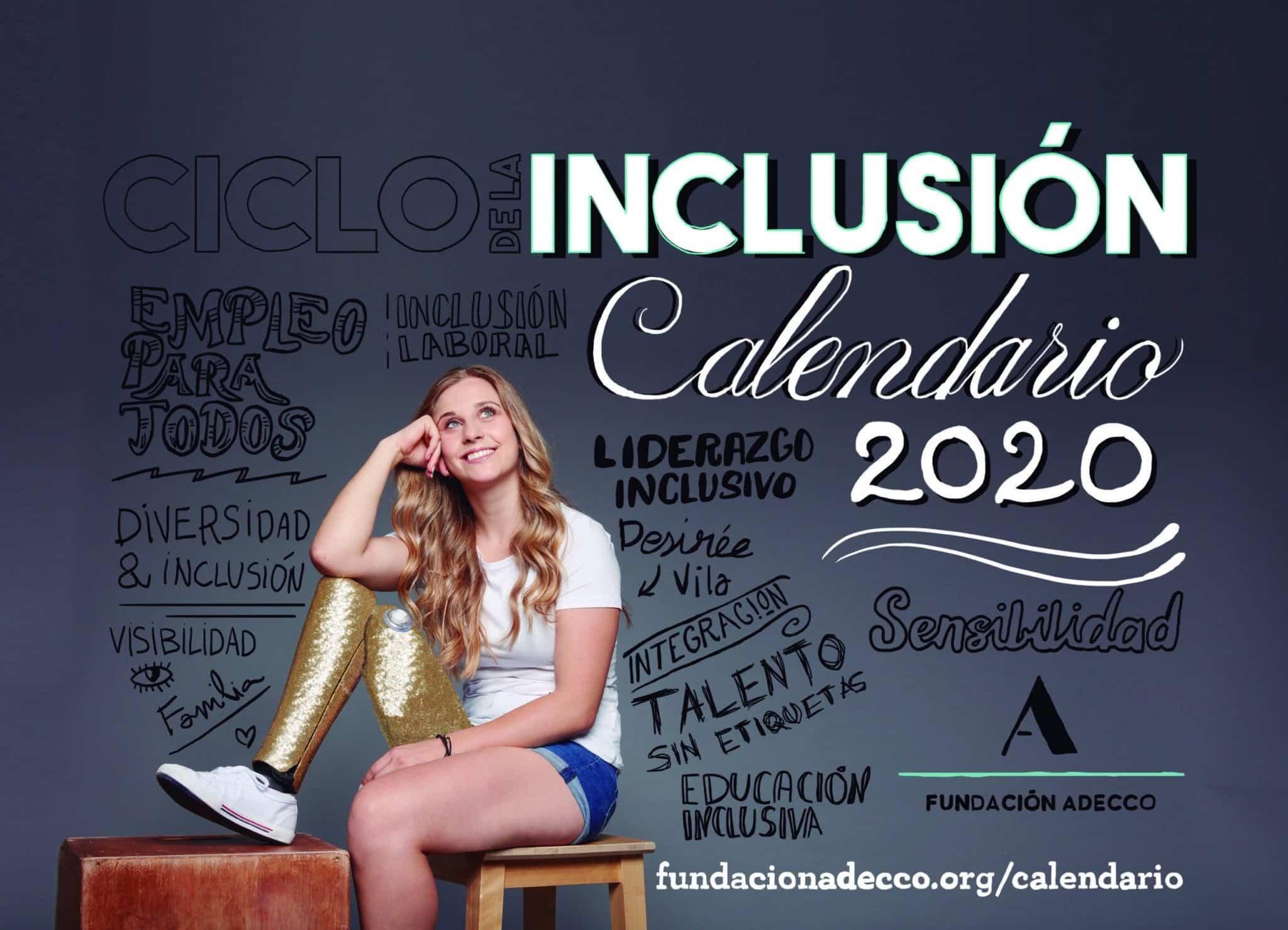Desirée Vila, atleta paralímpica, posa para el Calendario 2020 de la Fundación Adecco